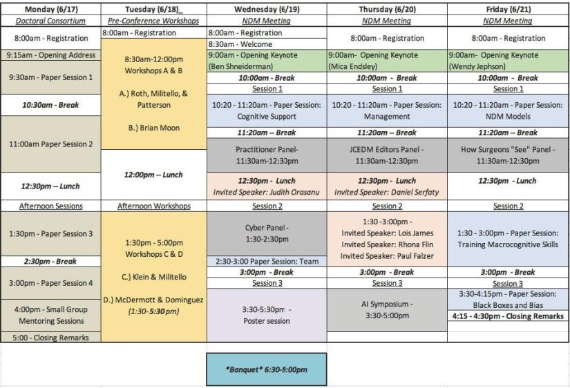 NDM Final Agenda Overview